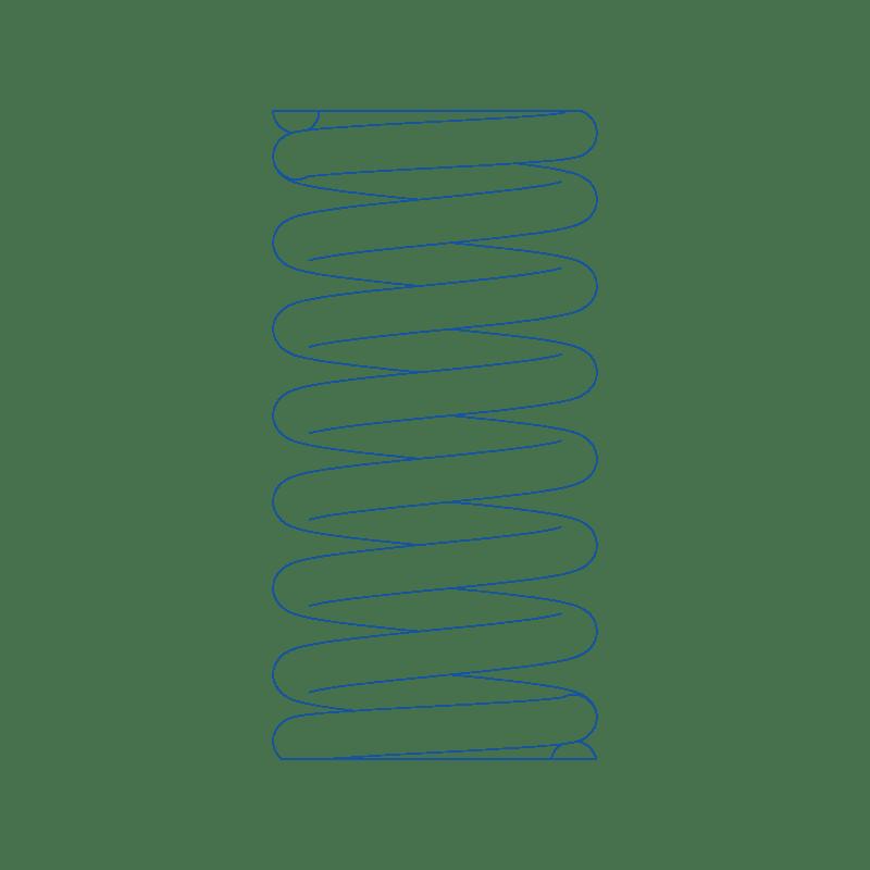 Dessin de ressort de compression